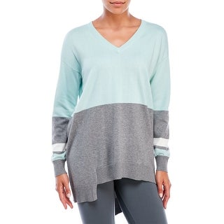 Vince Camuto Colorblocked Asymmetrical Long Sleeve Sweater - XL