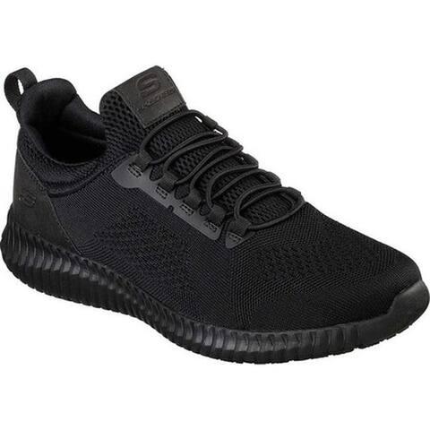 Skechers Men's Work Relaxed Fit Cessnock Slip Resistant Shoe Black