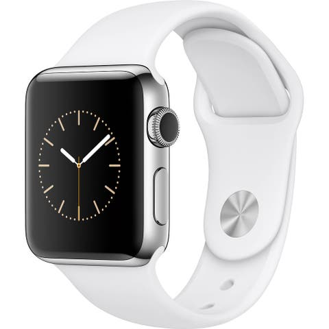Apple Watch Series 2 38mm Silver Stainless Steel Case & White Band (Refurbished)