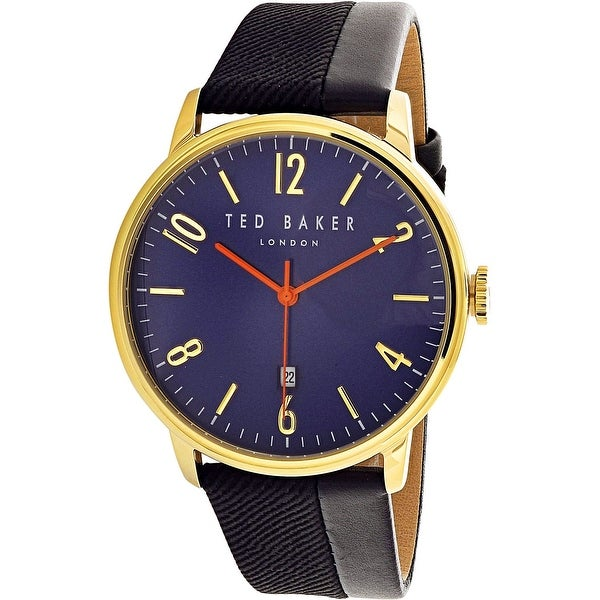 c33f0ac09 Shop Ted Baker Men s Daniel Black Leather Quartz Fashion Watch - Free  Shipping Today - Overstock - 18616873