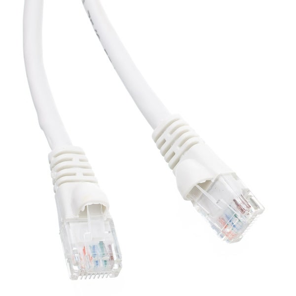 Offex Cat6a White Ethernet Patch Cable, Snagless/Molded Boot, 500 MHz, 2 foot
