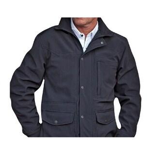 StS Ranchwear Western Jacket Mens Microfiber Snap Brazos Black STS9572