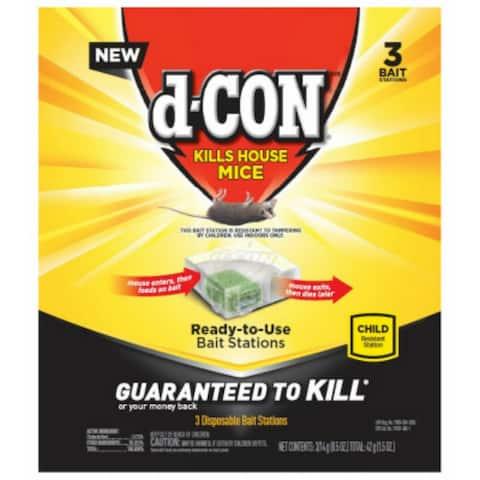 d-CON 1920098342 Disposable Corner Fit Bait Stations, 3 Count