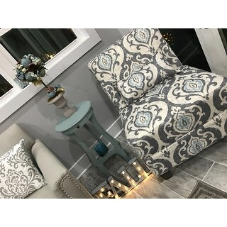 Homepop Blue Slate Large Accent Chair Free Shipping
