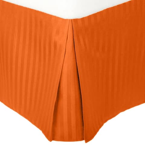 Superior Wrinkle Resistant Microfiber Stripe 15-inch Drop Bedskirt