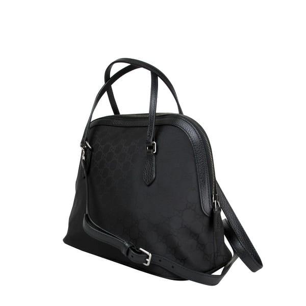 374c66ad0 Gucci Dome Black Nylon Leather Guccissima with Trim Cross Body Bag 420023  1000 - One size