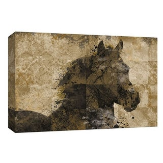 """PTM Images 9-148046  PTM Canvas Collection 8"""" x 10"""" - """"Afternoon Turnout"""" Giclee Horses Art Print on Canvas"""