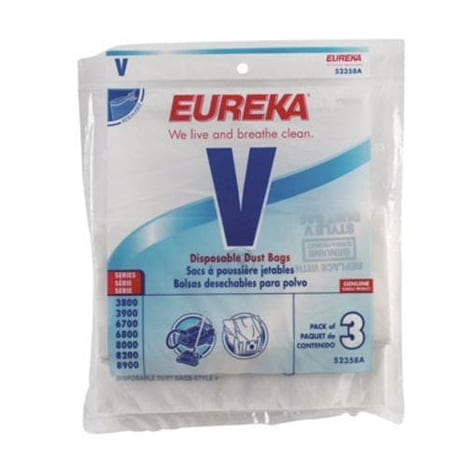 Eureka 52358A Style V Vacuum Bag, 3 / Pack