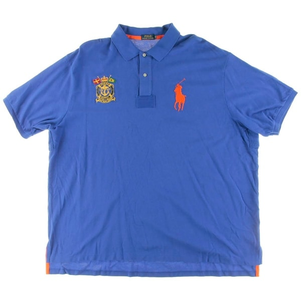 aabe779c Shop Polo Ralph Lauren Mens Big & Tall Polo Shirt Iconic Mesh Patchwork - Free  Shipping Today - Overstock - 15093437