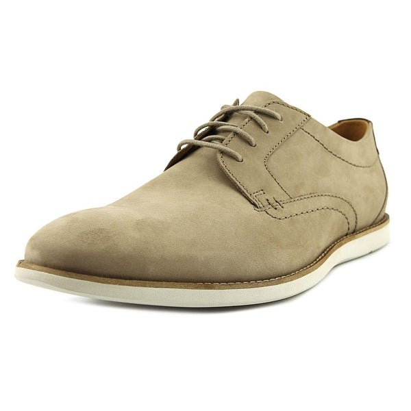 Clarks Raharto Plain Men Round Toe Leather Tan Oxford