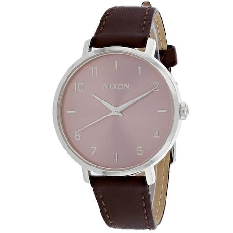 Nixon Women's Arrow Leather Pink Watch - A1091-2878 - One Size