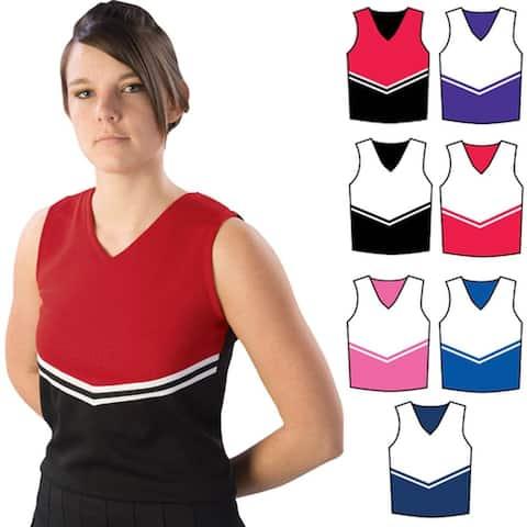 Pizzazz Black Red Cheer Uniform Top Adult M - Adult M