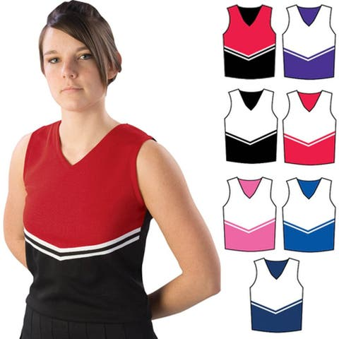 Pizzazz Black Red Cheer Uniform Top Adult S - Adult S