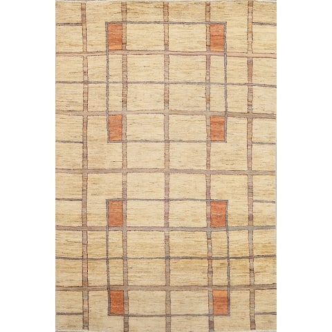 "Decorative Geometric Gabbeh Kashkoli Oriental Area Rug Wool Handmade - 5'6"" x 8'8"""