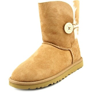 Ugg Australia Bailey Button Women  Round Toe Suede Tan Winter Boot