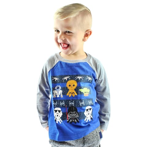 Star Wars Shirt Kids Toddler Chibi Characters Raglan T-Shirt