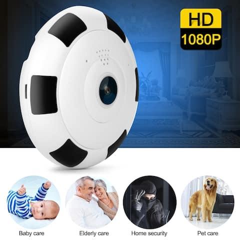 Mini 360 Degree Panoramic Wireless Wifi IP Fisheye Camera Two Way Audio 1080P HD - M