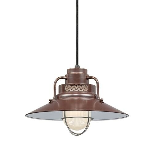 "Millennium Lighting RRRC14 R Series 1 Light 14"" Wide Cord Hung Pendant"