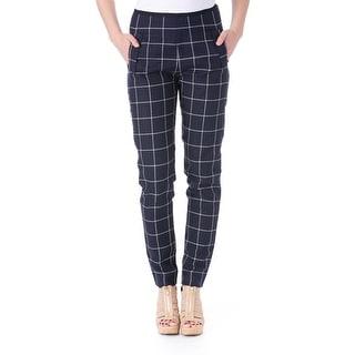 Kule Womens Jasper Ankle Pants Linen Plaid
