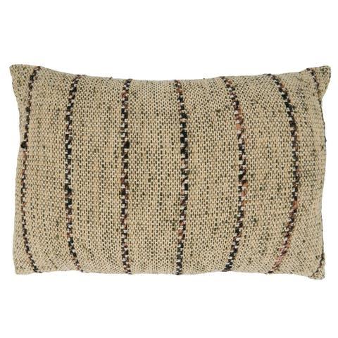 Thin Stripe Design Throw Pillow