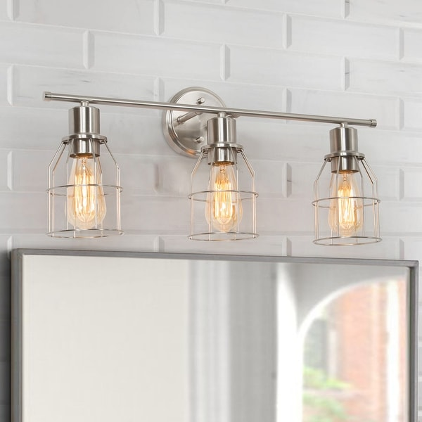 """Modern 3-light Linear Bathroom Wall Sconce Metal Vanity Lights for Powder Room - L23.6"""" x W6.7"""" x H8.7"""". Opens flyout."""