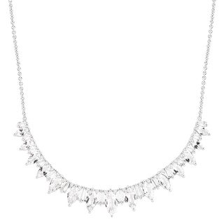 11 ct Created White Sapphire Garland Necklace in Sterling Silver