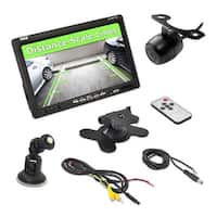 7'' Window Suction Mount TFT/LCD Video Monitor w/ Universal Mount Rearview Backup Color Camera w/ Distance Scale Line Camera