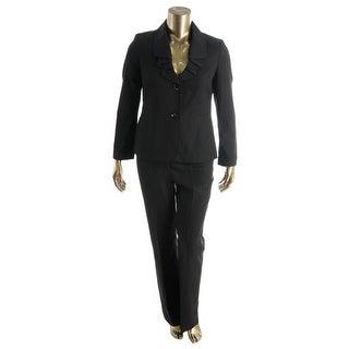 Le Suit Womens English Garden Ruffled 2PC Pant Suit - 18