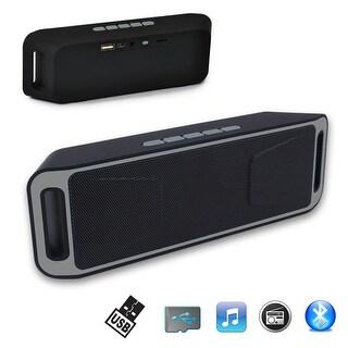 Indigi® [Grey] Portable Bluetooth Wireless Speaker FM Sub-woofer Super Bass HIFI Stereo