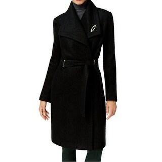 Ivanka Trump Women's Plus Trench Wool Solid Coat