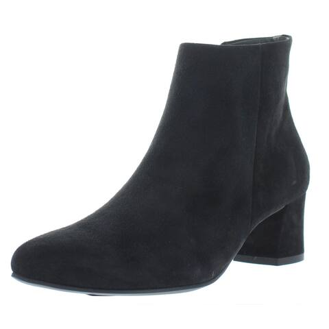 Paul Green Womens Bridget Ankle Boots Suede Pointed Toe - Black