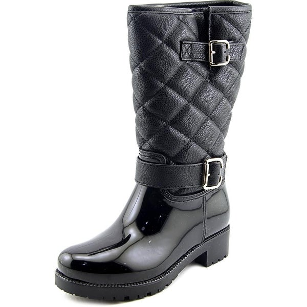 Baretraps Dolley Women Round Toe Synthetic Black Rain Boot