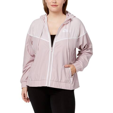 Nike Womens Plus Windrunner Athletic Jacket Fitness Workout - 1X