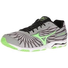 Mizuno Men's Wave Hitogami 4 Running Shoe, Grey/Green, 12 D US