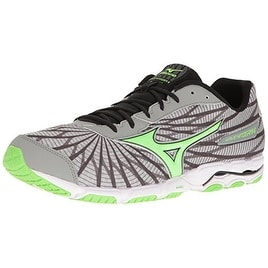 Mizuno Men's Wave Hitogami 4 Running Shoe, Grey/Green, 13 D US