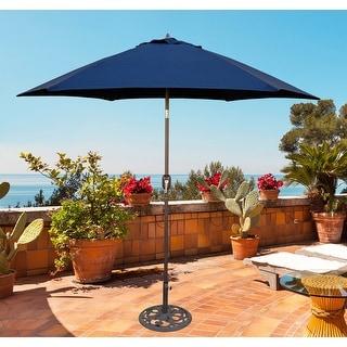 Link to Tropishade 9 ft. Aluminum Bronze Patio Umbrella with Navy Cover Similar Items in Patio Umbrellas & Shades