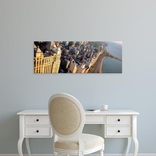 Easy Art Prints Panoramic Images's 'View of a highway along a lake, Lake Shore Drive, Chicago, Illinois' Canvas Art