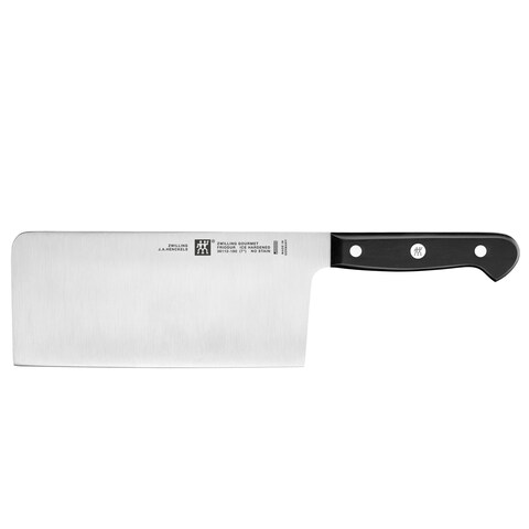 "ZWILLING Gourmet 7"" Chinese Chef's Knife/Vegetable Cleaver - Black/Stainless Steel"