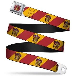 Gryffindor Crest Full Color Red Gryffindor Crest Diagonal Stripe Gold Red Seatbelt Belt