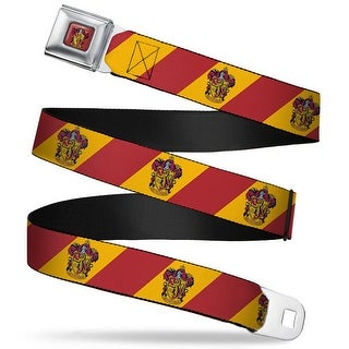 Gryffindor Crest Full Color Red Gryffindor Crest Diagonal Stripe Gold Red Seatbelt Belt