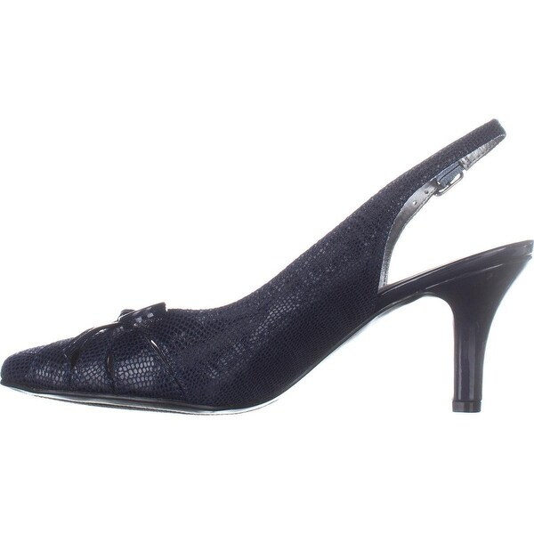 Karen Scott Womens glenna Pointed Toe Ankle Strap Classic Pumps