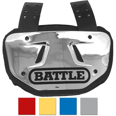 Battle Sports Science Youth Chrome Protective Football Back Plate - One Size