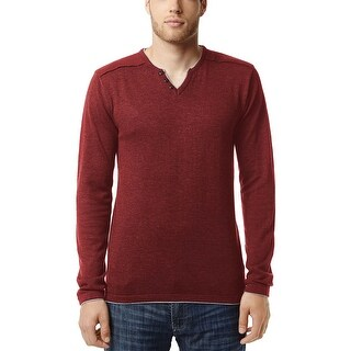 Buffalo By David Bitton Walleys Split Neck Sweater Spice Red XX-Large