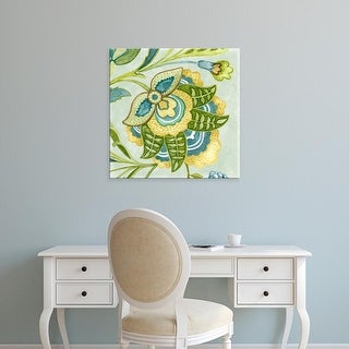 Easy Art Prints Sydney Wright's 'Decorative Golden Bloom IV' Premium Canvas Art