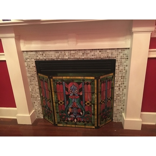 Victorian Stained Glass Fireplace Screen 12954297 Shopping Great Deals On