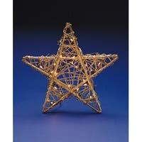 Huge Lighted Indoor Gold Rattan Star Christmas Hanging Decoration