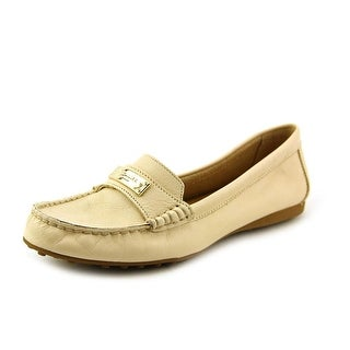 Coach Fredrica Women Round Toe Leather Ivory Loafer