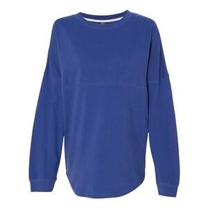 Women's Athena French Terry Dolman Sleeve Sweatshirt - Hyper Blue - XL