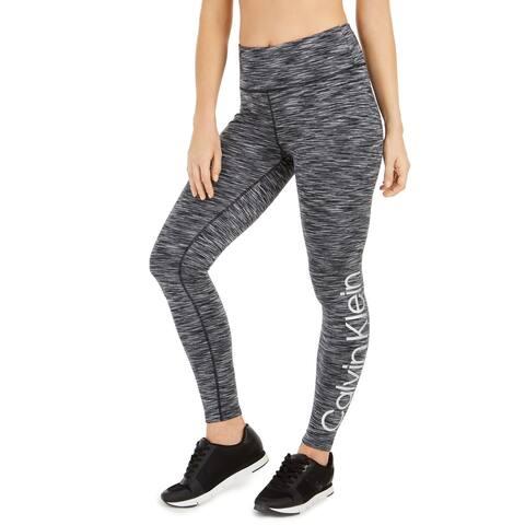 Calvin Klein Women's Gear Fleece-Lined High-Waist Leggings, Neutral, S