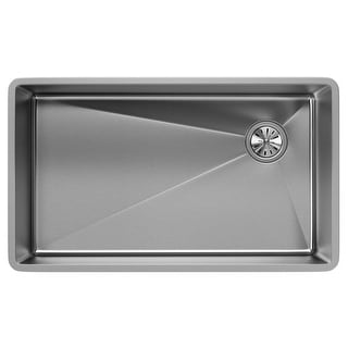 "Elkay ECTRU30179RT  Crosstown 31-1/2"" Undermount Single Basin Stainless Steel Kitchen Sink with Sound Dampening"